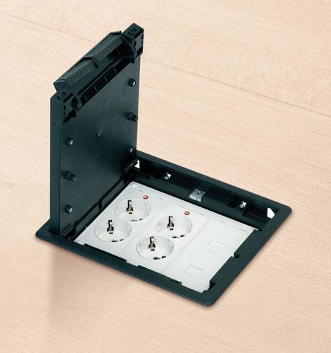 Nowoczesne puszki podłogowe i ich zastosowanie w instalacjach elektrycznych.