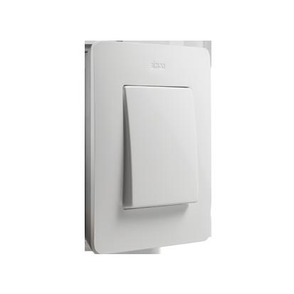 Gniazdka i łączniki elektryczne do domowej instalacji elektrycznej.